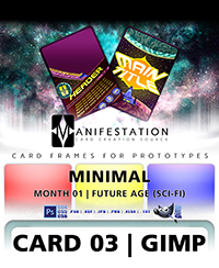Monthly Card Frames for Prototypes - Card 03 Gimp