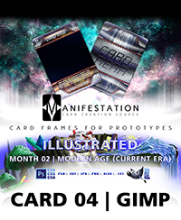 Monthly Card Frames for Ptototypes - Card 04 Gimp
