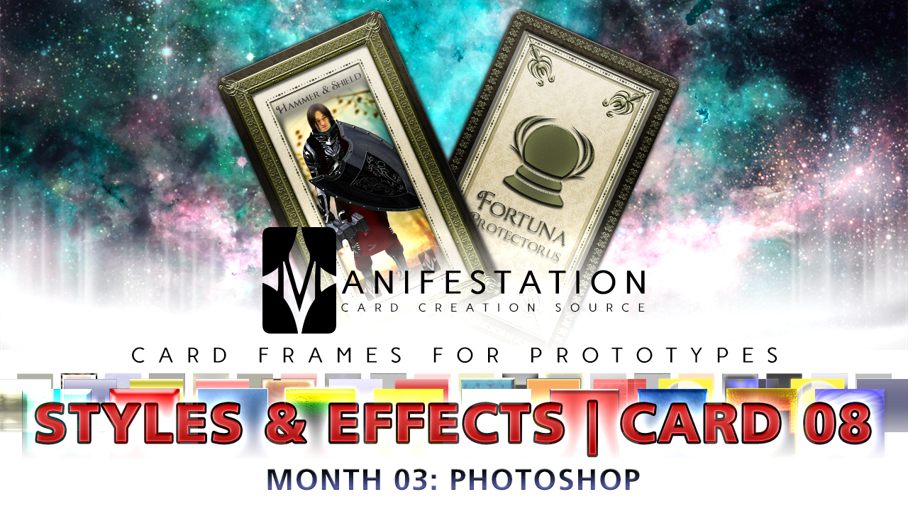 Manifestation CCS Monthly Card Frames for Prototypes Month 03 | Card 08 Photoshop