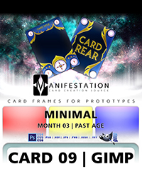 Gimp card game design template kit for prototypes card 09