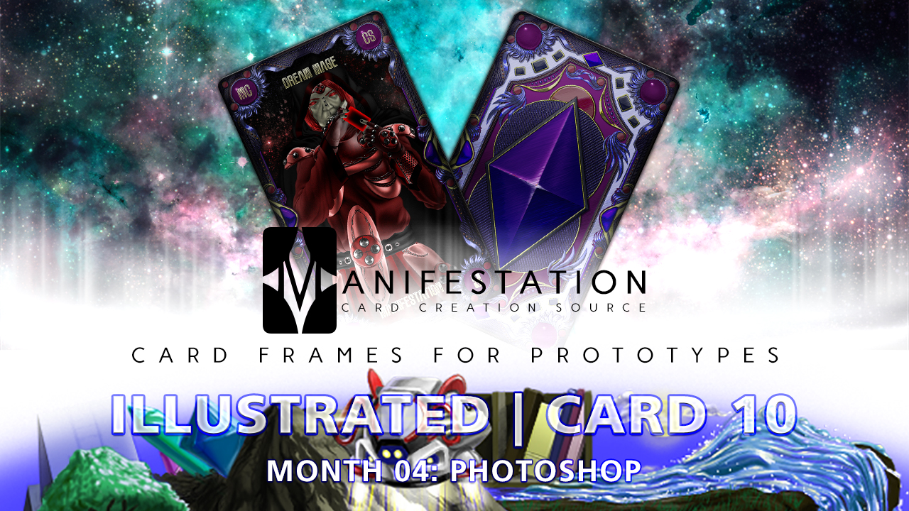 Manifestation CCS Monthly Card Frames for Prototypes Month 04 | Card 10 Photoshop