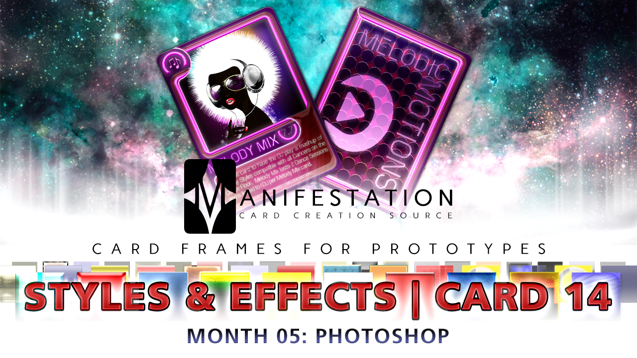 Card 14 - Styles & Effects (Modern Age) Photoshop + Gimp | Card Design  Border for Prototypes | - Unknown Depths | DriveThruRPG com