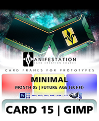 Gimp card game design template kit for prototypes card 15