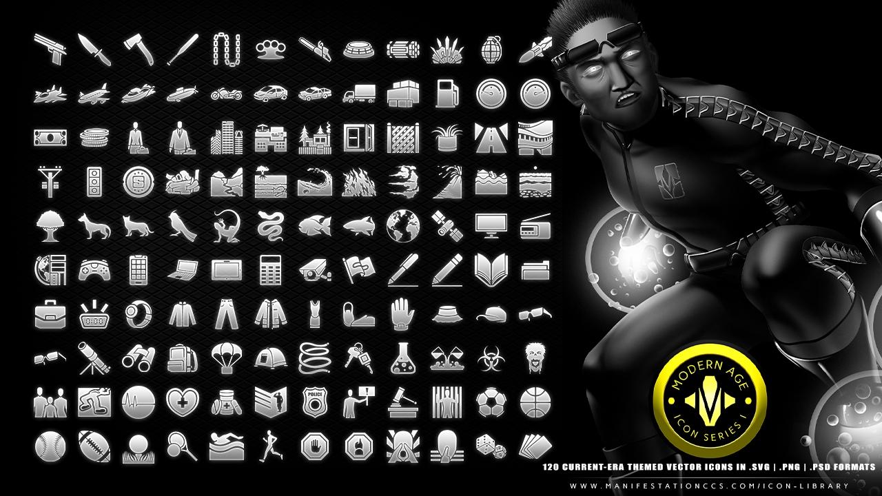 Modern Age Icon Series I Current-Era Game Icon Set