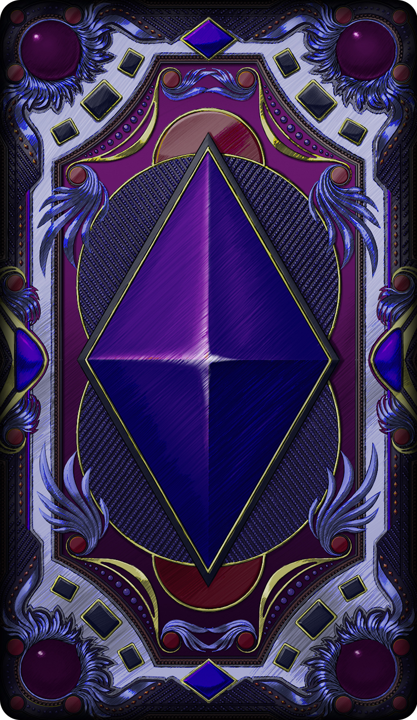 Card 10 Rear Photoshop Card Game Design Border Preview